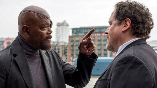 Samuel L. Jackson y Jon Favreau, en 'Spider-Man: Lejos de casa'